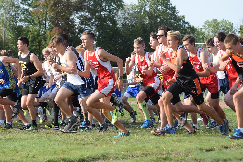 . Start of the boys race. MAC Blue Division cross country teams ran their first jamboree of the season at Marysville Park on Sept. 12, 2017. THE MACOMB DAILY PHOTO GALLERY BY GEORGE POHLY