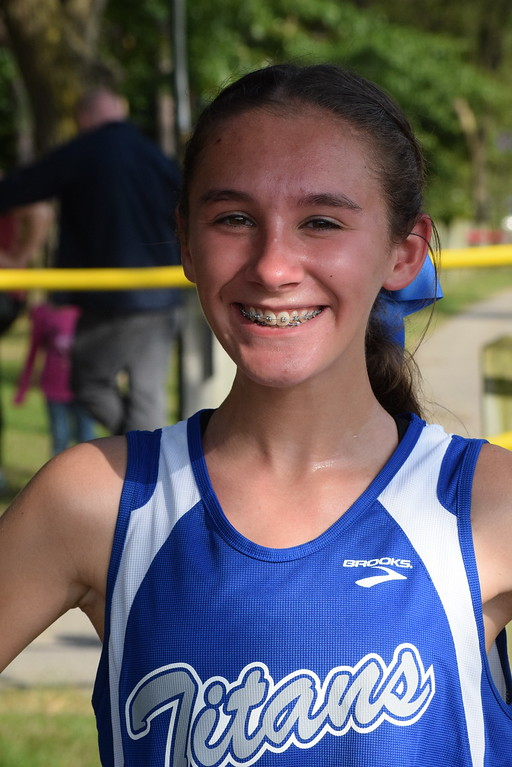 . Chloe Jablonski of Warren Woods-Tower led all county girls runners. MAC Blue Division cross country teams ran their first jamboree of the season at Marysville Park on Sept. 12, 2017. THE MACOMB DAILY PHOTO GALLERY BY GEORGE POHLY