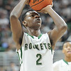 Behind 22 points, all coming in the first half, from Eric Williams Jr., New Haven cruised to a 78-49 win over Benton Harbor in a Class B semifinal, Friday at the Breslin Center on the campus of Michigan State University. (MIPrepZone photo gallery by David Dalton)