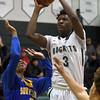 Ashton Sherrell (3) of New Haven puts up a shot during the match between New Haven and South Lake on December 28, 2016.  (MIPrepZone photo gallery by David Dalton)