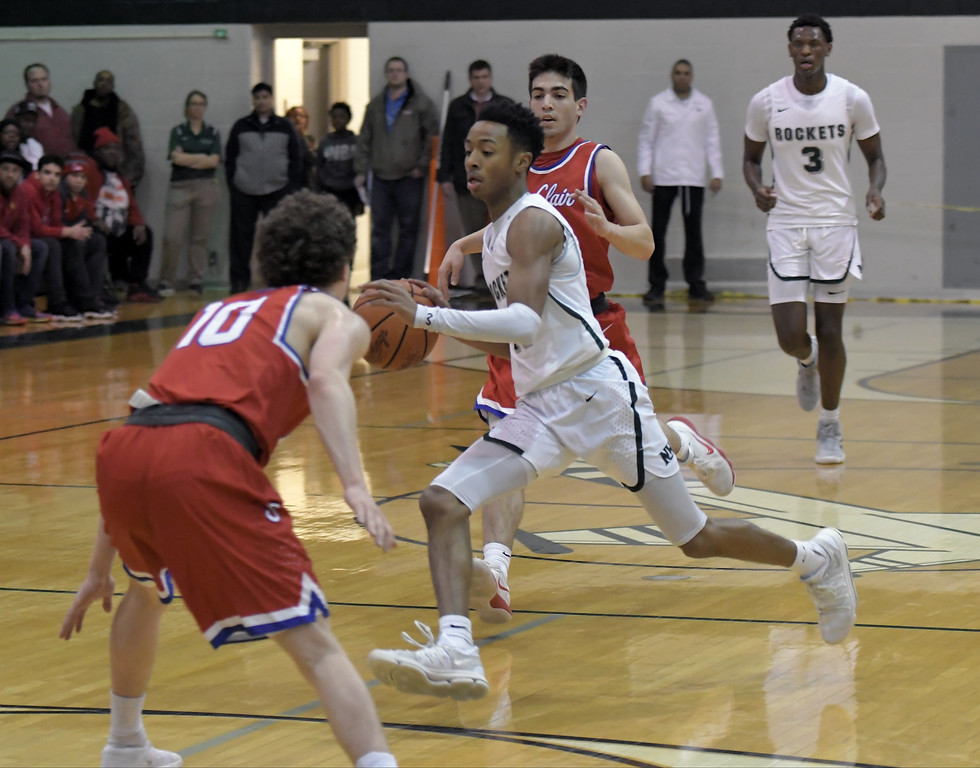 . New Haven vs St. Clair on March 12, 2018.  MACOMB DAILY PHOTO GALLERY BY DAVID DALTON
