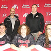 Romeo players, front row, from left, Austin Ventimiglio, Miles Riddell and Blake Blaisdell signed with Concordia lacrosse.