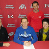 Romeo's Eddie Dopkowski has signed to play baseball at Lawrence Tech. A transfer from Boulder Creek HS in Arizona, Dopkowski has a 3.6 GPA. The switch hitter plays center field and shortstop. He plans  to study biomedical engineering at Lawrence. Dopkowski is pictured with his father, Robert, and mother, Patricia, along with Romeo coach TJ DeLamielleure.