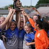Regina captured its seventh Division 2 district championship since 2008 with a 6-0 win over Woods Tower Saturday afternoon at Hazel Park. (Photo by Bill Roose)