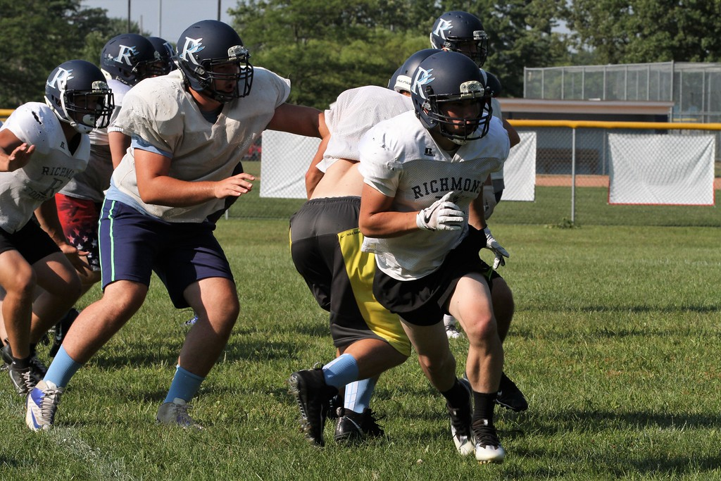 . Richmond football practice on Thursday August 10, 2017. (MIPrepZone photo gallery by George Spiteri)