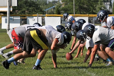 Richmond football practice on Thursday August 10, 2017. (MIPrepZone photo gallery by George Spiteri)