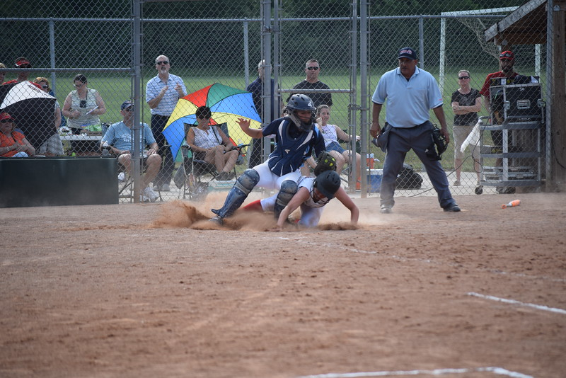 After defeating Dearborn Divine Child 4-2 in a state quarterfinal game June 13, Richmond is headed for a semifinal rematch against Escanaba. (MIPrepZone photo gallery by George Pohly)
