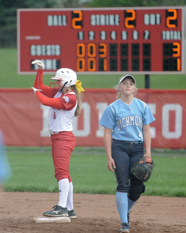 . Romeo vs Richmond  on May 13, 2018. MACOMB DAILY PHOTO GALLERY BY DAVID DALTON