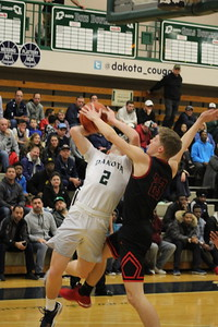 Dakota defeated visiting Roseville 44-39 in a Class A regional semifinal boys basketball contest on March 12, 2018. (Photo gallery by Kevin Lozon)