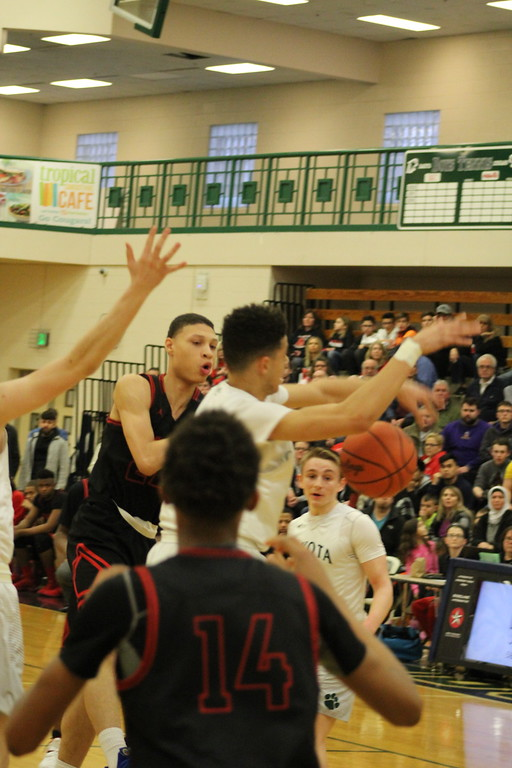 . Dakota defeated visiting Roseville 44-39 in a Class A regional semifinal boys basketball contest on March 12, 2018. (Photo gallery by Kevin Lozon)