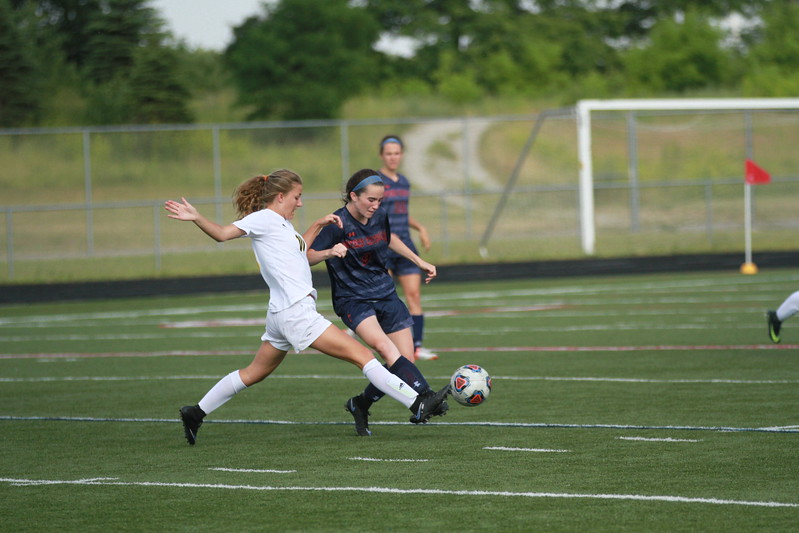 No. 1-ranked Flint Powers Catholic got a late goal to knock off Lutheran North 2-1 in a Division 3 semifinal Tuesday, June 13 at  Parker Middle School in Howell. (MIPrepZone photo gallery by Randy Castro)