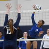 Marcala Armstrong (7) of South Lake spikes the ball during the match between South Lake and  North Branch at Clawson High School on November 15, 2016. (MIPrepZone photo gallery by David Dalton)