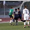 Dakota's #5 Vito Serra scored the only goal in the first half. Stevenson hosted Dakota Wednesday night in boys soccer action. (MIPrepZone photo gallery by Jon Kohlmann).