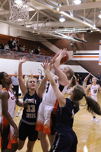 Stoney Creek defeated host Utica 60-49 in a non-league girls' basketball game on January 4, 2019. (Photo gallery by Kevin Lozon)