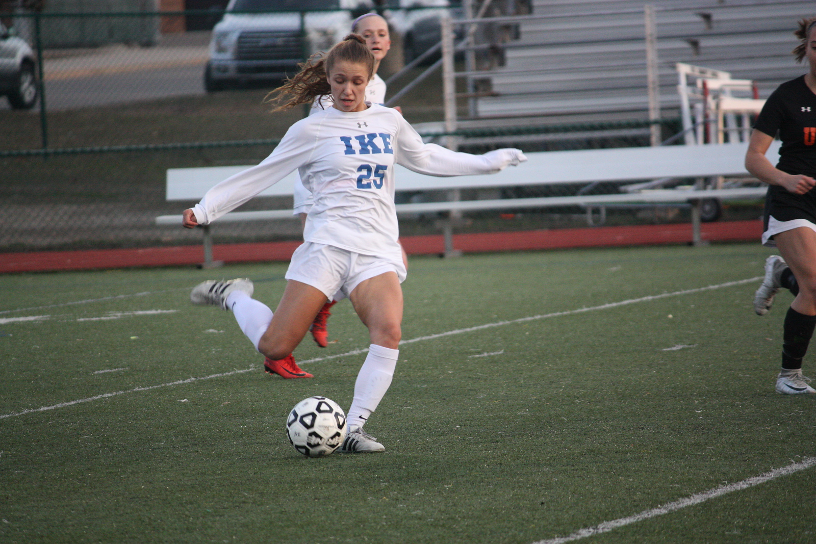 Eisenhower defeated visiting Utica 5-1 in a MAC crossover girls soccer match on  April 11, 2018. (Photo gallery by Kevin Lozon)
