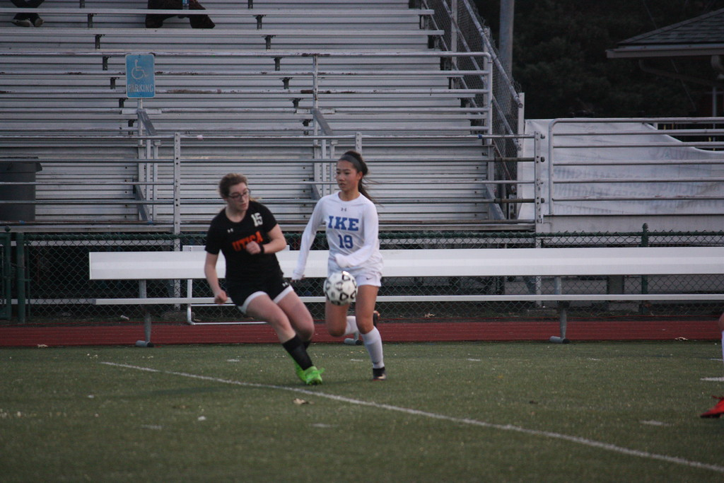 . Eisenhower defeated visiting Utica 5-1 in a MAC crossover girls soccer match on  April 11, 2018. (Photo gallery by Kevin Lozon)