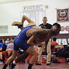 Andrew Valente of Lakeview wrestles against Robert Davis of Cousino at 130 pounds. Valente won by pin. (MIPrepZone photo gallery by George Pohly)