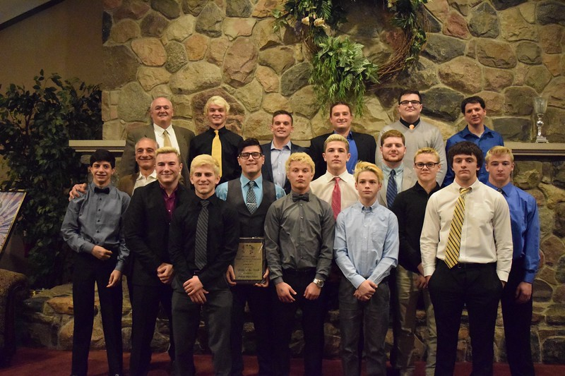 The Macomb County Division I team of the year, Macomb Dakota. (MIPrepZone photo by Matthew B. Mowery)