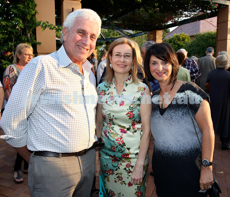 MDA Cocktail Party to honour Robert Magid as new patron. (from left) Stanley Roth, NSW AG Gabrielle Upton, Charmaine Roth. Pic Noel Kessel.