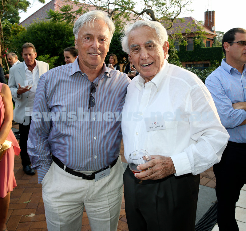 MDA Cocktail Party to honour Robert Magid as new patron. Robert Magid (left) & Harry Triguboff. Pic Noel Kessel.