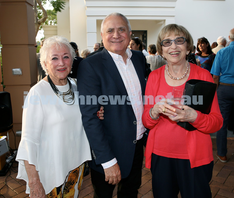 MDA Cocktail Party to honour Robert Magid as new patron. (from left) Greta Silvers, Danny Goulburn, Gerda Brender. Pic Noel Kessel.