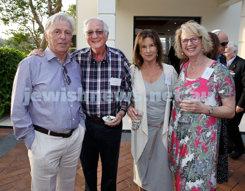 MDA Cocktail Party to honour Robert Magid as new patron. (from left) Robert Magid,Tony Lowy, Ruth Magid, Pauline Shavit. Pic Noel Kessel.