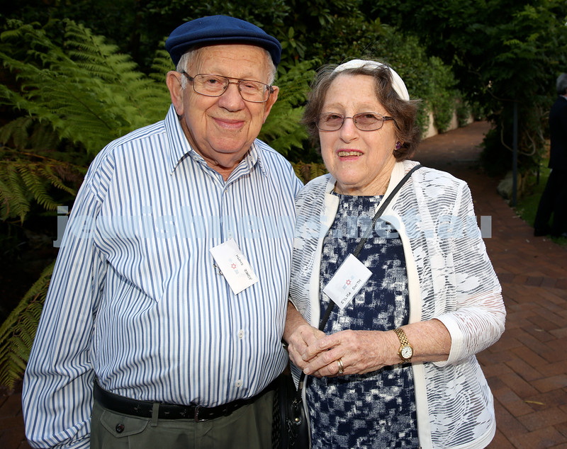 MDA Cocktail Party to honour Robert Magid as new patron. Asher & Sylvia Smith. Pic Noel Kessel.