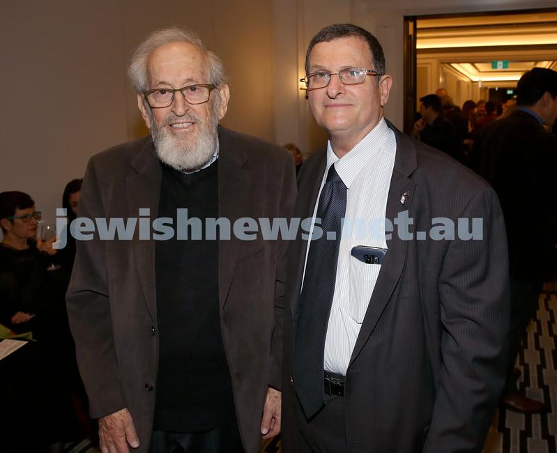 MDA Fundraiser event at the Intercon Hotel in Double Bay. Eli Tal & Shmuel Ben Shmuel. Pic Noel Kessel.