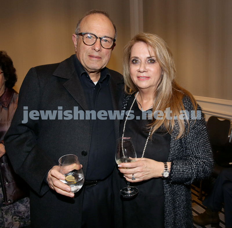 MDA Fundraiser event at the Intercon Hotel in Double Bay. Manfred Holzman & Margaret Pussell. Pic Noel Kessel.