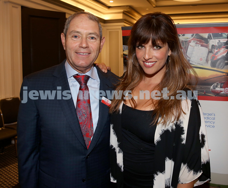 MDA Fundraiser event at the Intercon Hotel in Double Bay. Roland Nagel & Noa Tishby. Pic Noel Kessel.