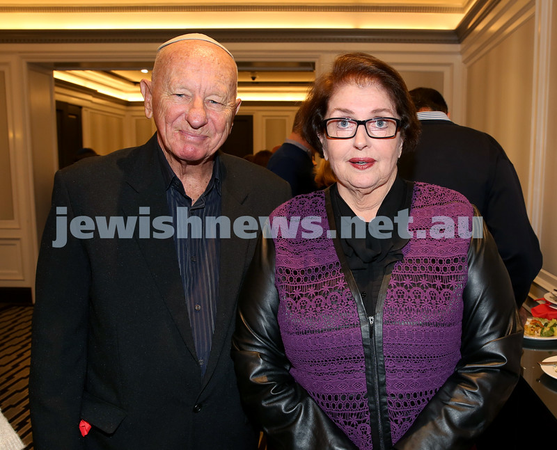 MDA Fundraiser event at the Intercon Hotel in Double Bay. Neville Banwell & Shoshana Russell. Pic Noel Kessel.