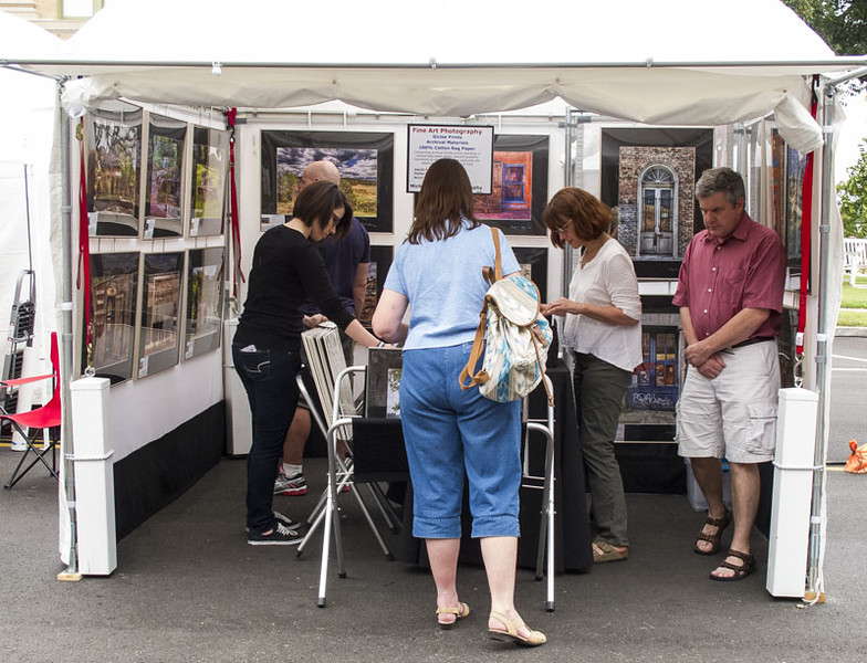 Saturday was a very good day!  People in the booth almost all day. Often quite crowded.  Quite good sales Saturday.  10-8pm, a long day.