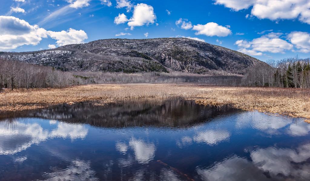 Champlain Mountain from Schooner Head Road 4-7-18