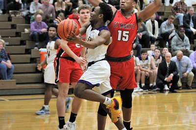The Pilots Michael Sherman goes up for a lay up. Orchard Lake St. Mary defeated De La Salle 60-47 in a game played on January 11, 2019 at De La Salle. Digital First Media photo gallery by George Spiteri.