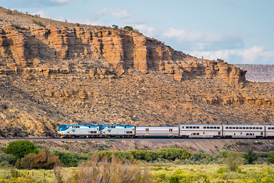 Train 3, the Southwest Chief, at Acoma Pueblo, NM.