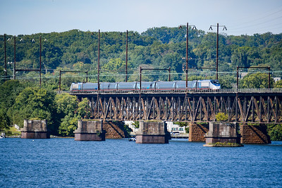Acela Express over the Susquehanna River at Perryville, MD