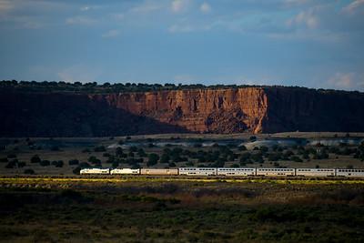 Train 3, the Southwest Chief at Mesita, NM.