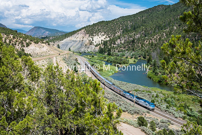 Train 5, the California Zephyr at Bond, CO.