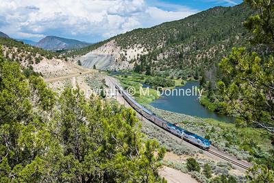 Train 5, the California Zephyr at Bond, CO.