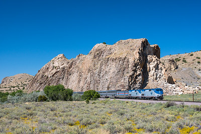 Train 4, the Southwest Chief, at Los Cerillos, NM.