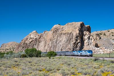 Train 4, the Southwest Chief, at Los Cerillos, NM.