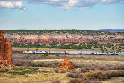 Train 4, the Southwest Chief at Mesita, NM.