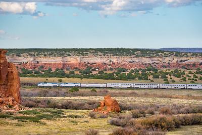 Train 4, the Southwest Chief at Mesita, NM.