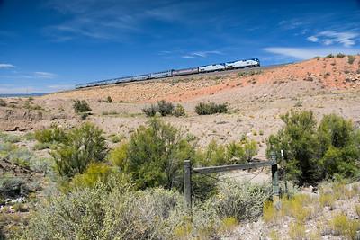 Train 4, the Southwest Chief, at Rosario, NM.