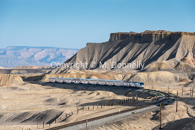 165 leads train 6, the California Zephyr, at Floy, UT