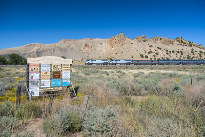 Train 3, the Southwest Chief, at Los Cerillos, NM.