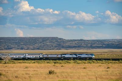 Train 3, the Southwest Chief at Laguna Pueblo, NM.