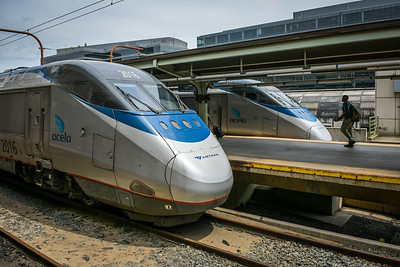 Acela Express in station, WAS.