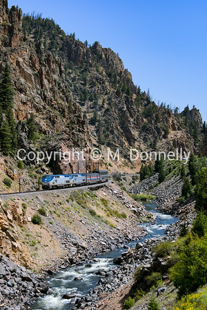 Hot Sulpher Springs, CO, Byers Canyon - train 5 California Zephyr