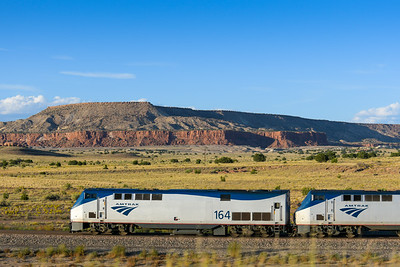 Train 3, the Southwest Chief at Laguna Pueblo, NM.